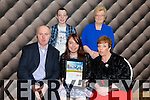 Michelle Lynch from Tralee with her family after she was presented with the Lee Strand-Kerry Garda Youth Acheivement Merit Award on Friday night in Ballyroe Heights Hotel Pictured Eddie Lynch, Michelle Lynch, Ann Lynch, Diarmuid Lynch, Phyllis McGlaughlin