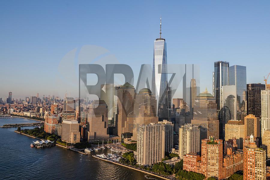 NOVA YORK, EUA, 17.09.2018 - CIDADE-NOVA YORK - Vista aerea do One World TRade Center da cidade de Nova York nos Estados Unidos (Foto: Vanessa Carvalho/Brazil Photo Press)