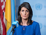 Ambassador of the United States to the United Nations Nikki Haley speaking to Press at SC stakeout