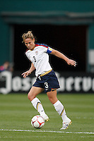 United States defender Christie Rampone (3). The women's national team of the United States defeated Canada 6-0 during an international friendly at Robert F. Kennedy Memorial Stadium in Washington, D. C., on May 10, 2008.