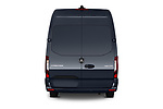 Straight rear view of 2019 Mercedes Benz Sprinter-Fourgon - 4 Door Cargo Van Rear View  stock images