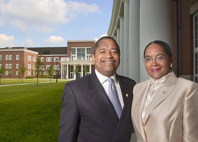 16508Dr. Roderick McDavis's indroduction as new president of Ohio University: Portrait of Him & Wife