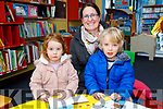 Kate, Elizabeth and Hugh Byrne (Tralee) at the National Library Open Day at the Tralee Library on Saturday.