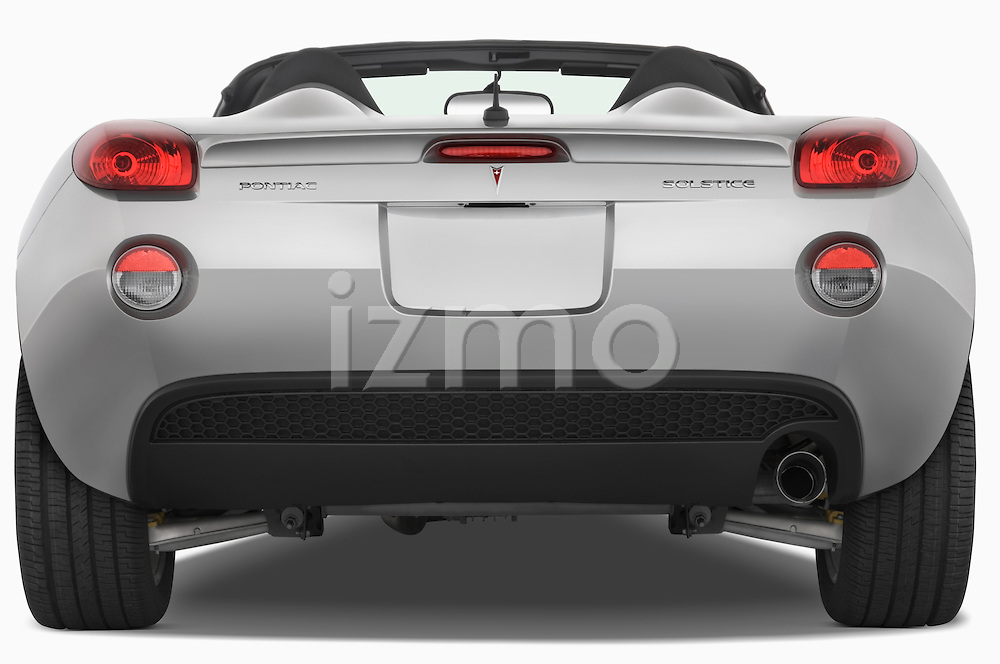 Straight rear view of a 2008 Pontiac Solstice
