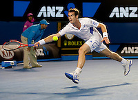 Andy Murray (GBR) (5) against  Rafael Nadal (ESP) (2) in the Quarter Finals of the Mens Singles. Murray beat Nadal due to retirement. 6-3 7-6 3-0..International Tennis - Australian Open Tennis -  Tues 26  Jan 2010 - Melbourne Park - Melbourne - Australia ..© Frey - AMN Images, 1st Floor, Barry House, 20-22 Worple Road, London, SW19 4DH.Tel - +44 20 8947 0100.mfrey@advantagemedianet.com