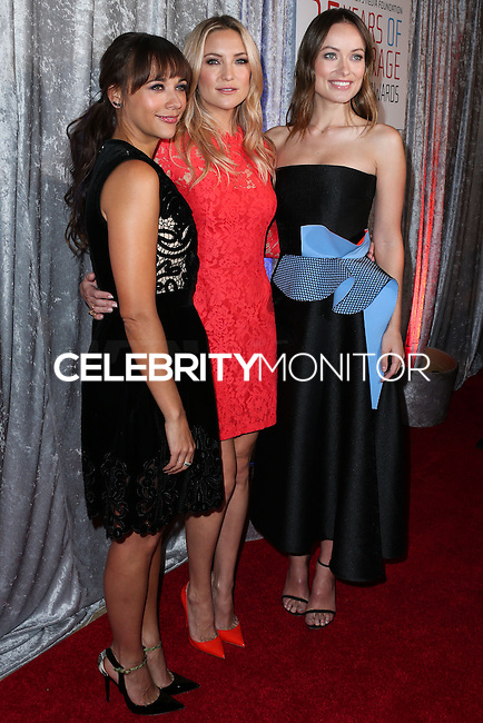 BEVERLY HILLS, CA, USA - OCTOBER 28: Rashida Jones, Kate Hudson, Olivia Wilde arrive at the 25th Annual Courage in Journalism Awards held at the Beverly Hilton Hotel on October 28, 2014 in Beverly Hills, California, United States. (Photo by Xavier Collin/Celebrity Monitor)