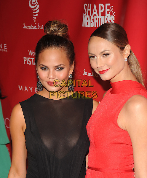 New York,NY- January 31: Chrissy Teigen, Stacy Keibler at SHAPE &amp; Men's Fitness Kickoff Party at Cipriani 42nd Street on January 31, 2014.  <br /> CAP/MPI/RTNStevens<br /> &copy;RTNStevens/MediaPunch/Capital Pictures