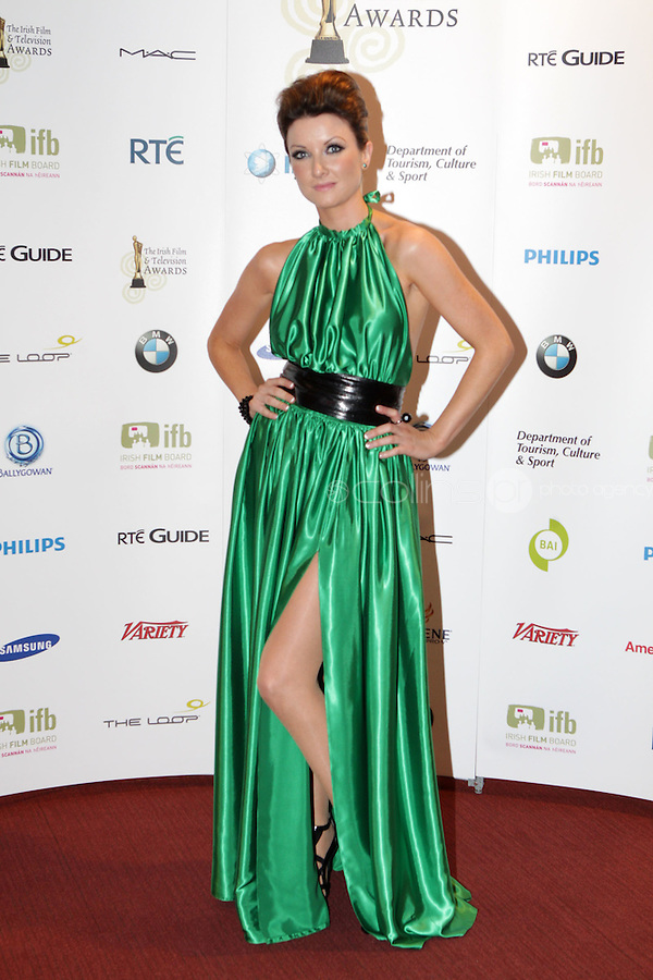 12/2/11 Jennifer Maguire at the 8th Irish Film and Television Awards at the Convention centre in Dublin. Picture:Arthur Carron/Collins