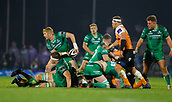 4th November 2017, Galway Sportsground, Galway, Ireland; Guinness Pro14 rugby, Connacht versus Cheetahs; Darragh Leader plays the ball out for Connacht