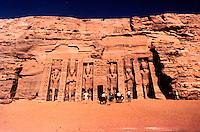 World Civilization:  Egypt--The small rock temple at Abu Simbel.  Photo '92.