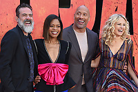 Jeffrey Dean Morgan, Naomie Harris, Dwayne Johnson &amp; Malin Akerman arriving for the &quot;Rampage&quot; premiere at the Cineworld Empire Leicester Square, London, UK. <br /> 11 April  2018<br /> Picture: Steve Vas/Featureflash/SilverHub 0208 004 5359 sales@silverhubmedia.com