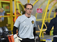 20191108 - Zapresic , BELGIUM : Belgian goalkeepercoach Sven Cnudde pictured during the female soccer game between the womensoccer teams of  Croatia and the Belgian Red Flames , the third women football game for Belgium in the qualification for the European Championship round in group H for England 2021, friday 8 th october 2019 at the NK Inter Zapresic stadium near Zagreb , Croatia .  PHOTO SPORTPIX.BE | DAVID CATRY