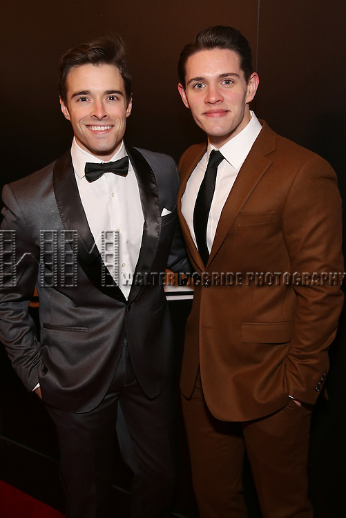 Corey Cott and Casey Cott attend the Broadway Opening Night of Sunset Boulevard' at the Palace Theatre Theatre on February 9, 2017 in New York City.