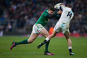 17th March 2018, Twickenham, London, England; NatWest Six Nations rugby, England versus Ireland; Jonny May of England is tackled by Garry Ringrose of Ireland