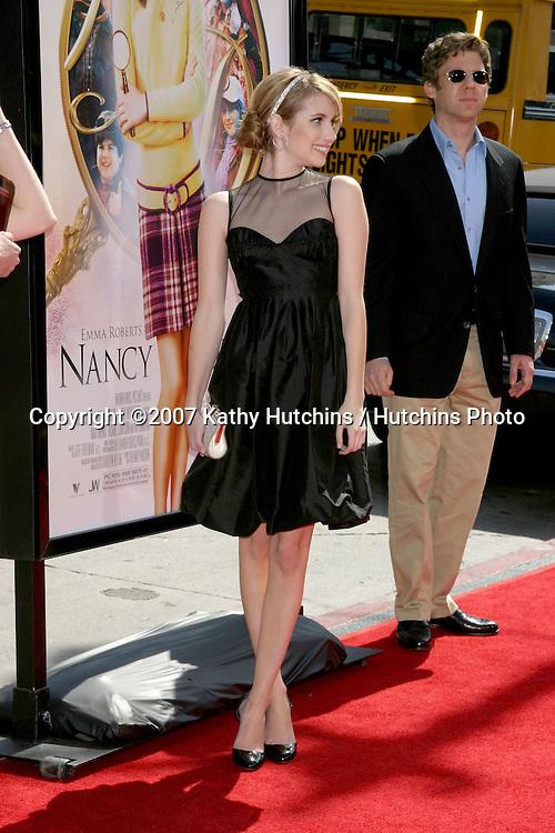 "Emma Roberts.""Nancy Drew"" Premiere.Grauman's Chinese Theater.Los Angeles, CA.June 9, 2007.©2007 Kathy Hutchins / Hutchins Photo...."