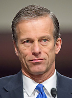 United States Senator John Thune (Republican of South Dakota) appears before the US Senate Armed Services Committee in support of the nomination of former US Representative Heather A. Wilson (Republican of New Mexico) to be Secretary of the Air Force on Capitol Hill in Washington, DC on Thursday, March 30, 2017. Photo Credit: Ron Sachs/CNP/AdMedia