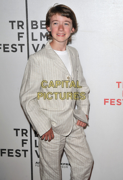 "CHANDLER FRANTZ.9th Annual Tribeca Film Festival ""My Own Love Song"" Premiere  held at Tribeca Performing Arts Center, New York, NY, USA..April 22nd, 2010.half 3/4 length beige pinstripe suit .CAP/ADM/BM.©Bill Menzel/AdMedia/Capital Pictures."