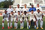 08 July 2015: Fort Lauderdale's starters. Front row (left to right): Shawn Chin, Ivan Guerrero (HON), Daniel Sanchez (ESP), Walter Ramirez (HON), Frankie Sanfilippo, Marlon Freitas (BRA). Back row (left to right): Victor Pagliari Giro PC (BRA), Joe Nasco, Karsten Smith, Josh Ford, Fabian Kling (GER). The Carolina RailHawks hosted the Fort Lauderdale Strikers at WakeMed Stadium in Cary, North Carolina in a North American Soccer League 2015 Fall Season match. The game ended in a 1-1 tie.