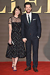 "LONDON, UK. November 21, 2016: Lizzy Caplan & Tom Riley at the ""Allied"" UK premiere at the Odeon Leicester Square, London.<br /> Picture: Steve Vas/Featureflash/SilverHub 0208 004 5359/ 07711 972644 Editors@silverhubmedia.com"