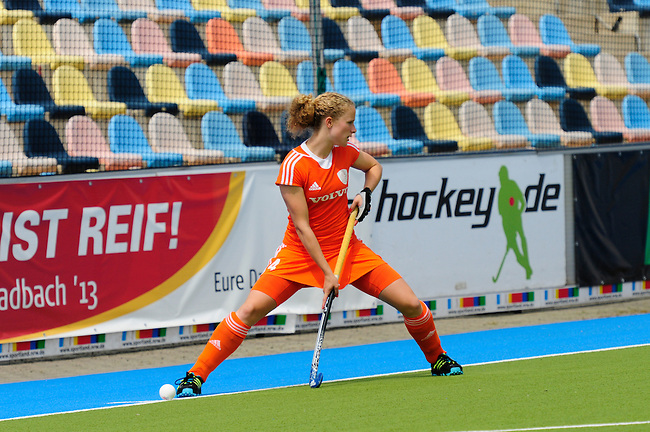 MOENCHENGLADBACH, GERMANY - JULY 27: Match between The Netherlands (orange) and Ghana (white) in Pool A during the Hockey Junior World Cup at the Warsteiner HockeyPark on July 27, 2013 in Moenchengladbach, Germany. Final score 10-0. (Photo by Dirk Markgraf/www.265-images.com) *** Local caption ***