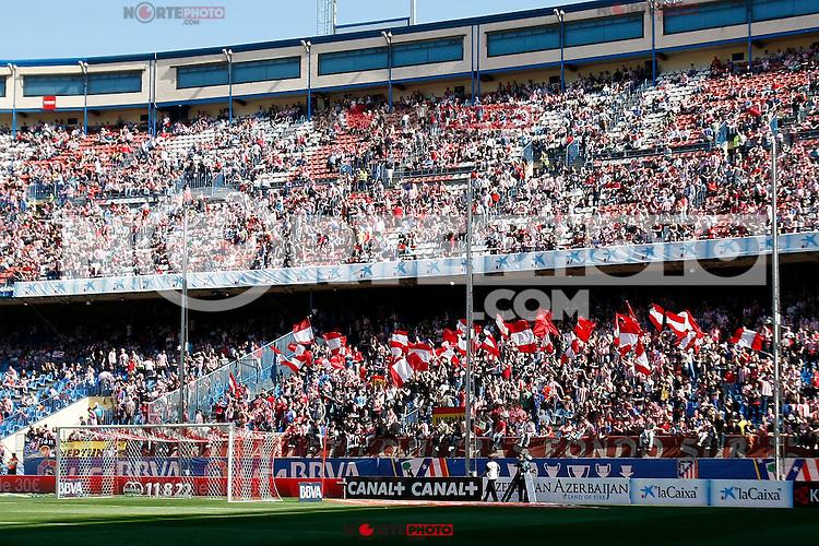 Atletico's supporters during La Liga BBVA match. April 14, 2013.(ALTERPHOTOS/Alconada)