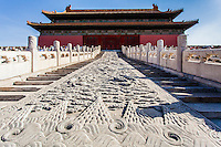 Dragon Pavement leading to the Hall of Preserving Harmony, Forbidden City, Beijing, China
