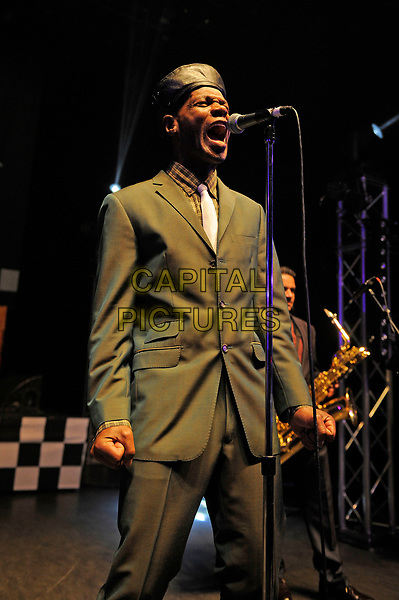 LONDON, ENGLAND - APRIL 29: Arthur 'Gaps' Hendrickson of 'The Selecter' performing at Shepherd's Bush Empire on April 29, 2017 in London, England.<br /> CAP/MAR<br /> &copy;MAR/Capital Pictures