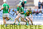 Dougie Fitzell Kilmoyley in action against Liam Boyle Ballyduff in the County Senior Hurling Final at Austin Stack Park on Sunday.