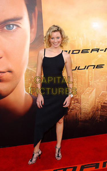 ELIZABETH BANKS .Columbia Pictures' World Premiere of Spider-Man 2 held at The Mann Village Theatre in Westwood, .California, .June 22nd 2004..full length full-length little black dress aysemetric hem strappy heels shoes spiderman.Copyright 2004 by Debbie VanStory.*UK sales only*.www.capitalpictures.com.sales@capitalpictures.com.©Capital Pictures