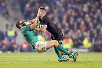 19th November 2016 | IRELAND vs NEW ZEALAND<br /> <br /> TJ Perenara is tackled by Rob Kearney during the Autumn Series International clash between Ireland and New Zealand at the Aviva Stadium, Lansdowne Road, Dublin,  Ireland. Photo by John Dickson/DICKSONDIGITAL