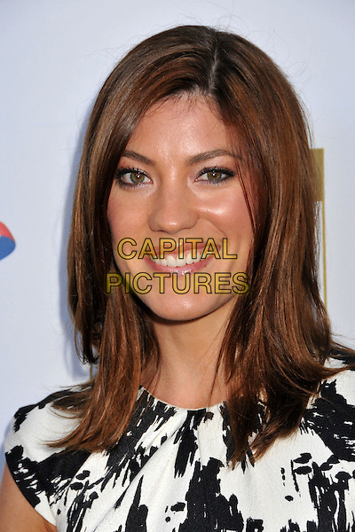 JENNIFER CARPENTER .7th Annual BAFTA TV Tea Party held at the Intercontinental Hotel, Century City, California, USA..September 19th, 2009.headshot portrait black white pattern print .CAP/ADM/BP.©Byron Purvis/AdMedia/Capital Pictures.