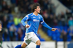 St Johnstone v Hibernian...26.11.11   SPL .Francisco Sandaza celebrates his goal.Picture by Graeme Hart..Copyright Perthshire Picture Agency.Tel: 01738 623350  Mobile: 07990 594431