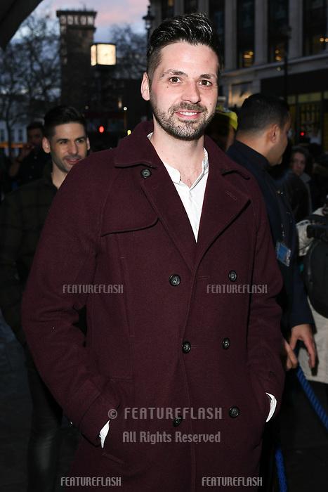 Ben Haenow arriving for James Ingham's Jog on to Cancer 2018 at Cafe de Paris, London, UK. <br /> 04 April  2018<br /> Picture: Steve Vas/Featureflash/SilverHub 0208 004 5359 sales@silverhubmedia.com