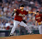 12 July 2008: Houston Astros' starting pitcher Wandy Rodriguez on the mound against the Washington Nationals at Nationals Park in Washington, DC. The Astros defeated the Nationals 6-4 in the second game of their 3-game series...Mandatory Photo Credit: Ed Wolfstein Photo