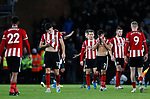 Sheffield United players look dejected after the Premier League match at Bramall Lane, Sheffield. Picture date: 5th December 2019. Picture credit should read: James Wilson/Sportimage