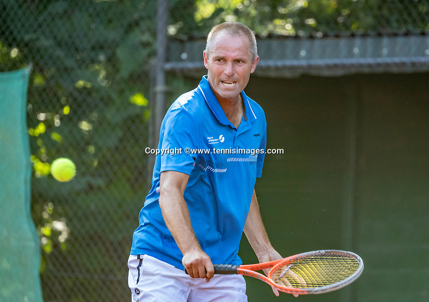 Hilversum, The Netherlands, September 2, 2018,  Tulip Tennis Center, NKS, National Championships Seniors, Men's 55+ final: Wim Bruggink (NED) <br /> Photo: Tennisimages/Henk Koster