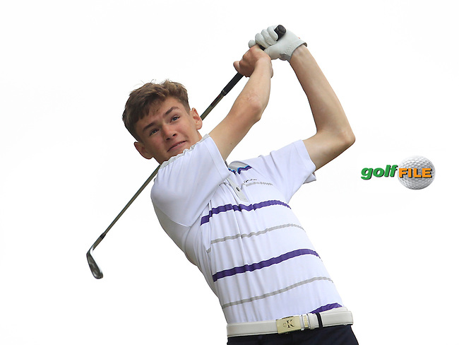 Jack Patton (Letterkenny) on the 7th tee during Round 2 of the Irish Boys Amateur Open Championship at Tuam Golf Club on Wednesday 24th June 2015.<br /> Picture:  Thos Caffrey / www.golffile.ie