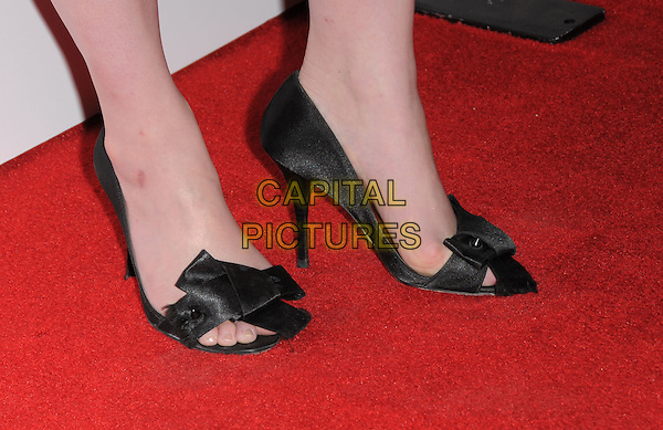 CHRISTINA HENDRICKS' SHOES .The Hollywood Life's 5th Annual Hollywood Style Awards held at The Pacific Design Center in Beverly Hills, California, USA..October 12th, 2008                                                                     .black feet heels .CAP/DVS.©Debbie VanStory/Capital Pictures.