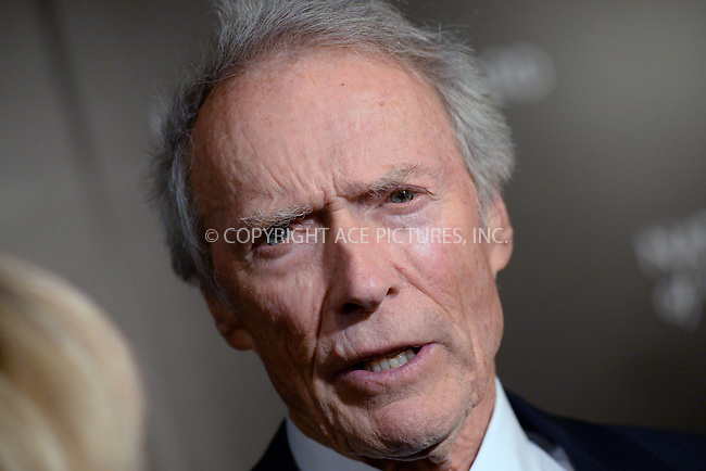 WWW.ACEPIXS.COM<br /> January 6, 2015 New York City<br /> <br /> Clint Eastwood attending the 2014 National Board of Review Gala at Cipriani 42nd Street on January 6, 2015 in New York City.<br /> <br /> Please byline: Kristin Callahan/AcePictures<br /> <br /> ACEPIXS.COM<br /> <br /> Tel: (212) 243 8787 or (646) 769 0430<br /> e-mail: info@acepixs.com<br /> web: http://www.acepixs.com