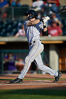 Grand Junction Rockies Brenton Doyle (29) at bat during a Pioneer League game against the Grand Junction Rockies at Dehler Park on August 15, 2019 in Billings, Montana. Billings defeated Grand Junction 11-2. (Zachary Lucy/Four Seam Images)