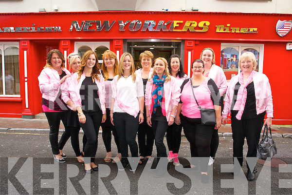 Michelle McGuire from Ballinorig, getting married in September to Thomas Breen, on a Hen Weekend leaving from New Yorkers on Saturday. Pictured From left to right, Sharon Cronin, Linda Sugrue, Aisling McGuire, Aoife O'Connor, Michelle McGuire, Julie McGuire, Sinead McGuire, Fiona Foley, Linda Looney, Annmarie McMahon and Bridget Lawlor O'Shea