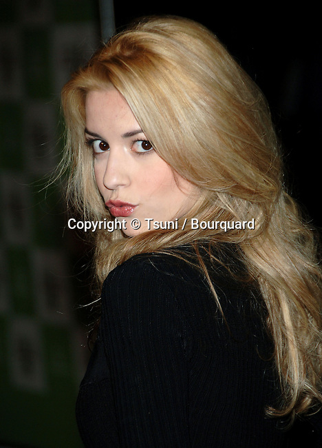 Masiela Lusha arriving at the EMA - Environmental Media Awards 2006 at the Ebel Theatre in Los Angeles.<br /> <br /> headshot<br /> over the shoulder<br /> eye contact