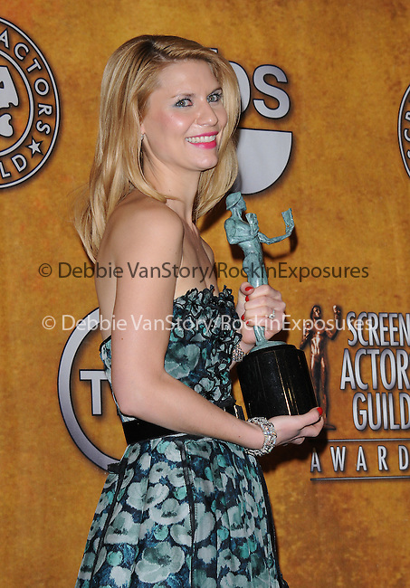 Claire Danes attends the 17th Annual Screen Actors Guild Awards held at The Shrine Auditorium in Los Angeles, California on January 30,2011                                                                               © 2010 DVS / Hollywood Press Agency