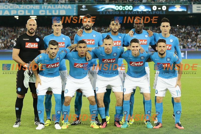 Formazione Napoli, Line Ups Team <br /> Napoli 28-09-2016 Stadio San Paolo <br /> Football Calcio UEFA Champions League 2016/2017 Group B. Napoli - Benfica<br /> Foto Cesare Purini / Insidefoto