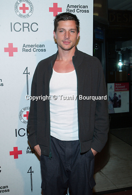 """Simon Rex arriving at the Michel comte auction to benefit """" People and Place with No Name """" in assocoation with the International Red Cross at the Ace Gallery in Los Angeles. March 19, 2002.            -            RexSimon01.jpg"""