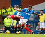 05.05.2018 Rangers v Kilmarnock: Eamonn Brophy fouled by Alfredo Morelos