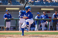 Rancho Cucamonga Quakes Rylan Bannon (25) at bat against the Lake Elsinore Storm at LoanMart Field on April 22, 2018 in Rancho Cucamonga, California. The Storm defeated the Quakes 8-6.  (Donn Parris/Four Seam Images)