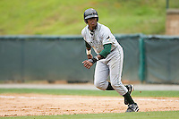 Tim Beckham (6) of the Princeton Rays takes off for second base at Calfee Field in Pulaski, VA, Sunday July 6, 2008. (Photo by Brian Westerholt / Four Seam Images)
