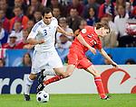 Christos Patstzoglou and Dmitriy Torbinskiy at Euro 2008, RUS-GRE, 06142008, Salzburg, Austria
