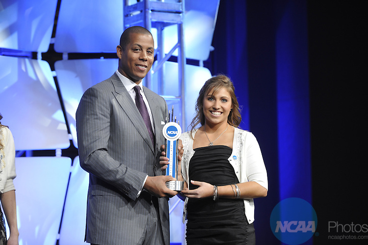 14 JAN 2010: Honorees and guests participate in the 2010 NCAA Honors Celebration at the 2010 NCAA Convention held at the Marriott Marquis and the Hyatt Regency in Atlanta, GA. Stephen Nowland/NCAA Photos.Pictured: Courtney Kupets.